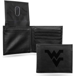 West Virginia Laser Engraved Black Billfold Wallet