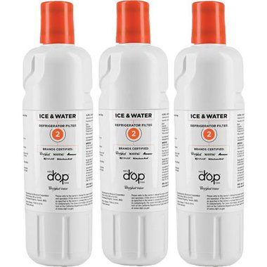 Whirlpool EDR2RXD1 EveryDrop Ice & Water Refrigerator Filter 2 (Three Pack)