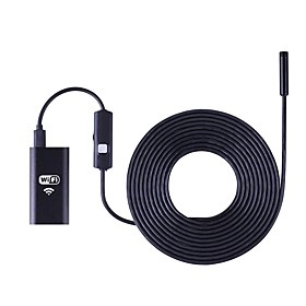 Wifi Endoscope Camera 8MM Lens 5M Hard Cable Borescope Waterproof Inspection Camera HD for IOS Android Endoskop PC Tablet
