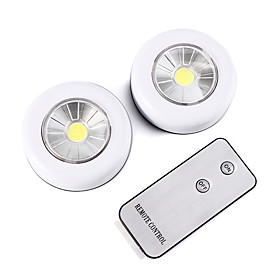 Wireless Remote Control LED Night Light Under Cabinet Lighting 2 piece Cabinet Light Battery Powered Light indoor Wall Lamp