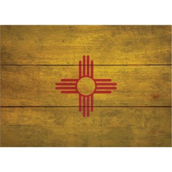 Wood State Flag Signs - Large - New Mexico