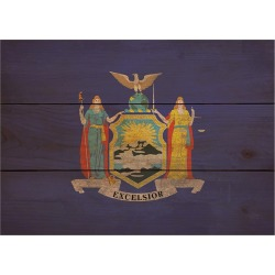 Wood State Flag Signs - Large - New York