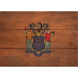 Wood State Flag Signs - Small - New Jersey