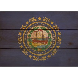 Wood State Flag Signs - XL - New Hampshire