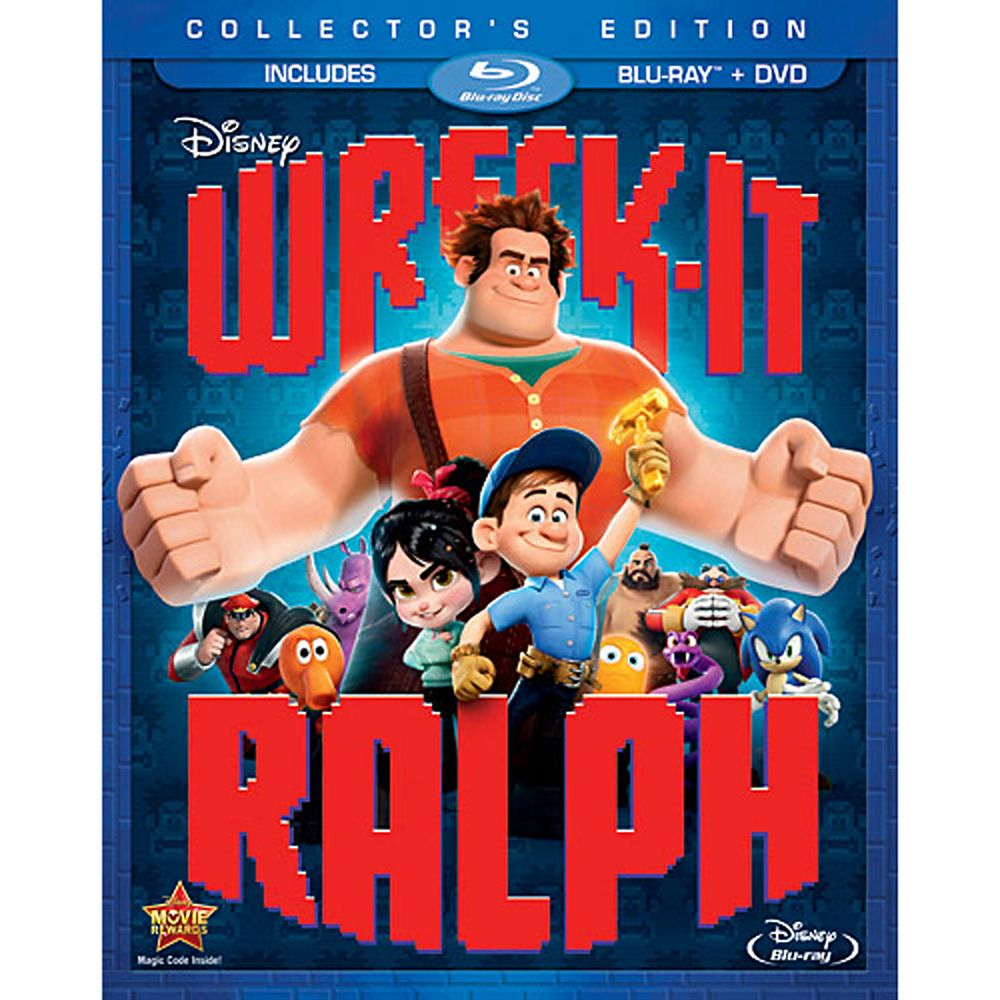 Wreck-It Ralph Blu-ray and DVD Combo Pack Official shopDisney