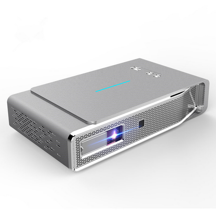 WZATCO V5 DLP Projector 600 Ansi Lumens WXGA 1280x800P 2000:1 BT Wifi Support 1080P 4K Portable Home Theater Projector