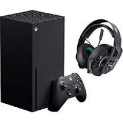 Xbox Series X Bundle with: 1) Xbox Series X system, 2) RIG 500 PRO EX Wired Headset (Black)