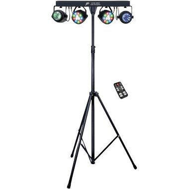 Zebra ZLPBD243 4-in-1 LED Party Lighting Bar System With Laser & LED Effects