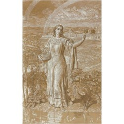 Giclee Painting: Hunt's Pearl, (Metalpoint Heightened with White and Y