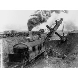 Poster: Steam Shovel Digging Ditch for Western Pacific Railroad, 24x18