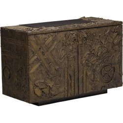 Sculpted And Patinated Bronze Cabinet By Paul Evans For Directional