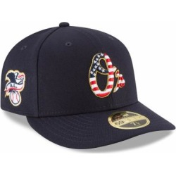 Baltimore Orioles New Era 2018 Stars & Stripes 4th of July On-Field Low Profile 59FIFTY Fitted Hat - Navy
