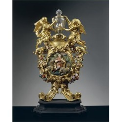 Giclee Print: Reliquary of Saint Daniel in Silver, Gilded Bronze, Ebony and Pietre Dure, Height 68 Cm, 1705: 24x18in