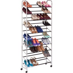 Honey Can Do Rolling Shoe Tower Chrome